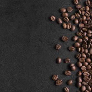Fondo Negro Minimalista Y Disposición De Granos De Café3